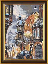 "Cross Stitch Kit NOVA SLOBODA PE 3314 - ""Snow in the City"""