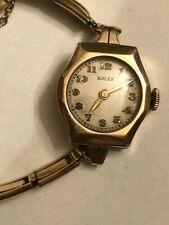 ROLEX VINTAGE PRE 1919 ANTIQUE 9K SOLID GOLD LADY'S 15 J. MANUAL WIND WATCH LOOK
