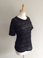 Little Black Lace,   Stretch.   TOP/BLOUSE/JUMPER/T. SHIRT Size 8 Vgc BNWT