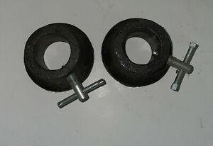 """VINTAGE 1 inch 1"""" Pair Barbell Collar Clamp Bar Weight Standard"""