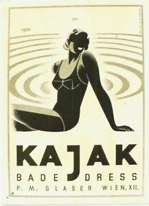 Original vintage poster project KAJAK AUSTRIA SWIMSUIT c.1950 Hofmann