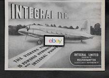 BEA BRITISH EUROPEAN 1947 VICKERS VIKING INTEGRAL LTD PUMPS AD