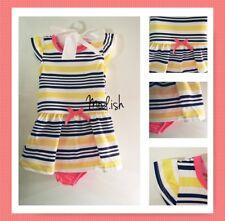 New Healthtex Toddler Girl 2 Piece Flutter Sleeve Knit Dress and Bloomer Set