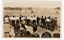 RPPC REAL PHOTO LAMAR CO. JULY 4th, 1908 INDIAN FIGHT XF
