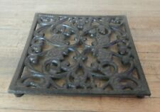 Square Trivet Cast iron ornate Kitchen Cookware Pot stand