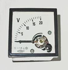 Voltmètre 0-20 volts industrielle DIN48, domestique, auto, marine DCV20