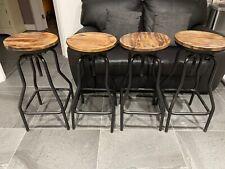 vintage industrial bar stools