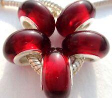 5X handmade silver Murano Lampwork Glass Beads for European Charm Bracelet L101