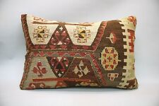 Kilim Sofa Pillow, 16x24 inc, Decorative Throw Pillow, Handmade Vintage Pillow