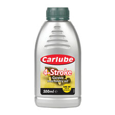 Carlube 4 Stroke Lawnmower Garden Machinery Engine Oil SAE30 Lubricant 500ml