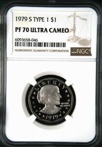 1979 S Type 1 Proof Susan B. Anthony Dollar NGC PF 70 Ultra Cameo