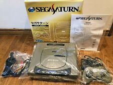 ★ SEGA Saturn Console HST-3200 Gray Very Good Condition Box tested ★Japan★
