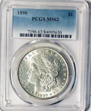 1890 Morgan Silver Dollar - PCGS MS-62  - Certified Mint State 62 Morgan