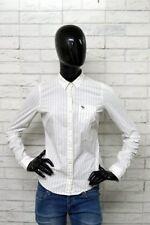 Camicia ABERCROMBIE & FITCH Stretch Donna Taglia XS Chemise Polo Maglia Elastica