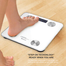 Smart Digital Bathroom Weight Fat Scale Body BMI Mobile Fitbit Bluetooth, White