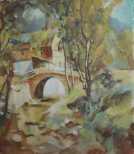 1993 European oil painting landscape signed