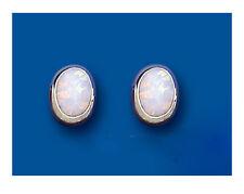 Opale Orecchini Argento Massiccio bottone ovale argento sterling borchie
