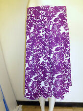 Gorgeous Purple Floral Cotton Paneled Skirt from Tayberry, Size S/M - BNWT!!