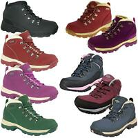 Northwest Womens Leather Walking Hiking Trail Waterproof Ankle High Rise Boots