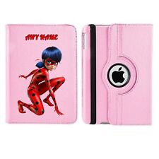 Miraculous Ladybug 1 Name Personalised iPad 360 Rotating Case Cover Birthday