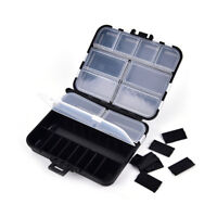 fishing tackle box 26 compartments storage case fishing lure accessories tool+P