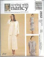 McCalls Sewing Pattern # 2652 Misses Dress and Unlined Jacket Size 8-10