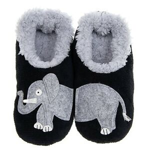 Snoozies - PAIRABLE SNOOZIES SHERPA FLEECE LADIES SLIPPERS - Elephant