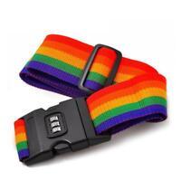Gepäckgurte Rainbow Word Luggage Lock Strap Koffer Sicherheitsgurt