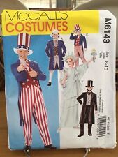 McCall's Costume Pattern M6143 Patriotic Liberty Abe Lincoln Uncle Sam Adult L