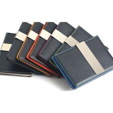 Faux Leather Wallets for Men Money Clip