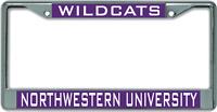 Northwestern University WILDCATS License Plate Frame