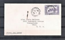 1932 Canada Sc 201 13c Dull Violet First Day Cover to Ohio As Per Scan (Jn14)