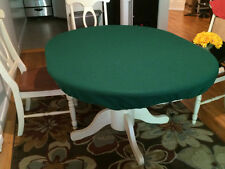 poker felt table cover for Round Table w/ Leaf Insert - oval pill shape - mto