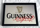 "Arthur Guinness Beer Bar Pub Mirror 18"" x 13"" Est 1759 Red Signature Harp Logo"