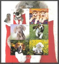 Hunden Dogs 2011 Malawi (2) imperforated cheet of 6
