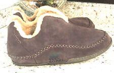 SOREL Mens Manawan Slipper Marsh Size Men's 15 Sherpa Fur Tan Brown