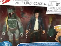 HASBRO STAR WARS HAN SOLO AND BOBA FETT FORCE LINK ACTION FIGURES 2 PACK 2016