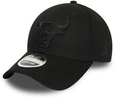 Chicago Bulls New Era 940 NBA Black On Black Stretch Snap Cap