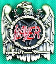 "Belt Buckle ""SLAYER"" 3.8cm Wide, DIY, Custom Metal Casting."
