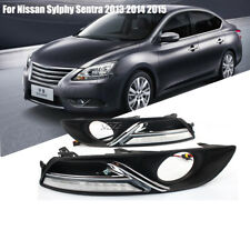 LED DRL Daytime Running Light For Nissan Sylphy Sentra 2012-15 Turn Signal Lamp