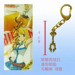 Fairy Tail Natsu Dragonil Pendentif Necklace Collier Clé Manga Lucy Cosplay #2