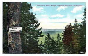 Early 1900s View from Stony Ledge, Graylock Mountain, MA Postcard *5F(2)31