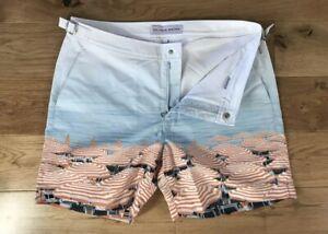 "Orlebar Brown Bulldog Swim Shorts Return To Parasol Paradise 32""W £225 New"
