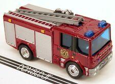 Matchbox Dennis Sabre Fire Truck Engine Dark Red w/Ladder Rubber Tire 1:96 Scale