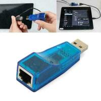 NEW USB 2.0 To LAN RJ45 External Network Card Adapter Z4O6 10/100Mbps B0A0 G5I5