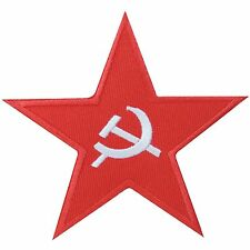 Red Star Soviet USSR Hammer & Sickle CCCP Union Flag Insignia Iron on Patch 1604