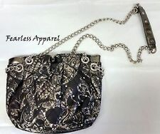 Iron Fist Sweet Skull O Mine Small Quilted Shoulder Bag Purse Punk Goth Chain