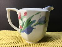 MIKASA FRENCH SILK CREAMER GALLERY DV007 JAPAN 8 OZ COLORFUL FLORAL ON WHITE