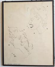 Jan MARA/Caricatures de Suzet Maïs et Simone Valère/vélin Renage 1944/théâtre