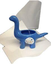 Target Brontosaurus Ceramic Planter Blue Nwt